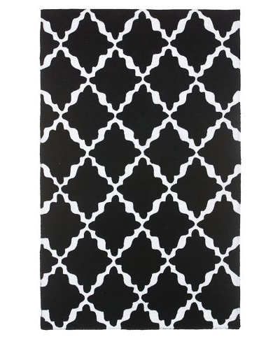 Black Lattice Rug