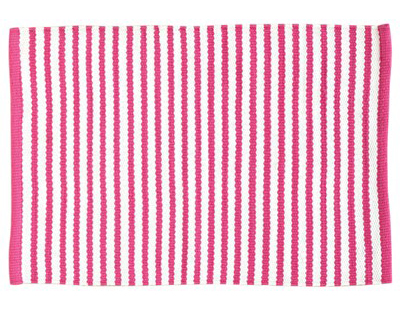 Candy Stripe Fuschia Placemat - Set of 4