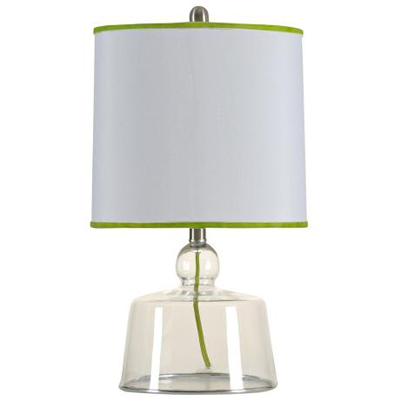 Clairmont Green Shade Clear Glass Table Lamp