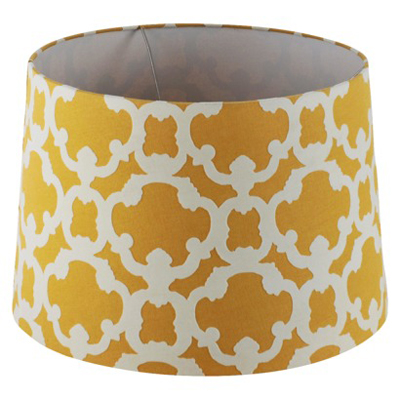 Flocked Large Yellow Lamp Shade