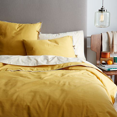 Linen Cotton Blend Duvet Cover + Shams