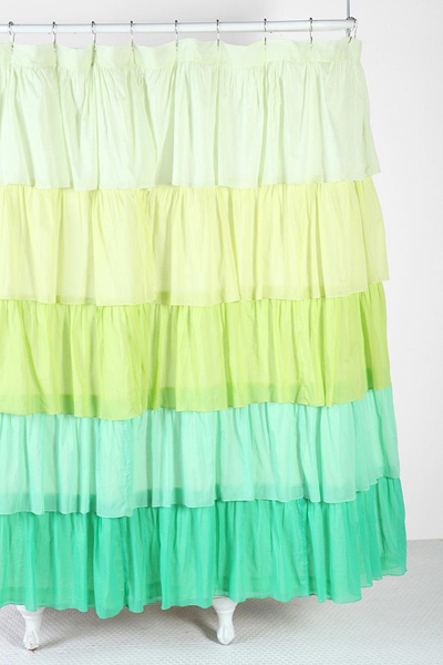 gallery for pink ombre ruffle shower curtain