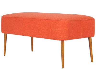Retro Orange Wool Bench