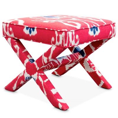 Jonathan Adler Furniture X-Bench Avignon Cerise