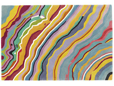 Colorful Wave-like Patterned Rug