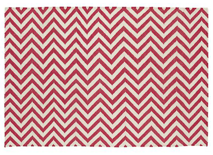 Pink Chevron Patterned Rug