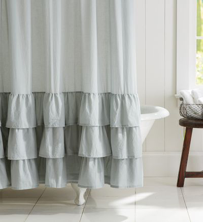 Ruffled Curtains Canada Ruffle Shower Curtain