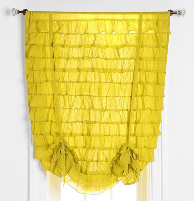 Waterfall Ruffle Draped Shade Curtain