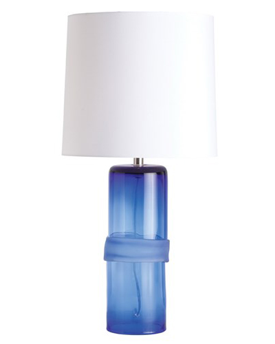 Arteriors Topher Cobalt Irregular Banded Glass Lamp
