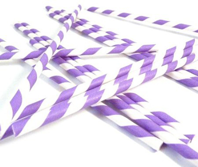 Bella Cupcake Couture Paper Party Striped Straws