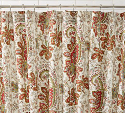 Charlie Paisley Organic Shower Curtain