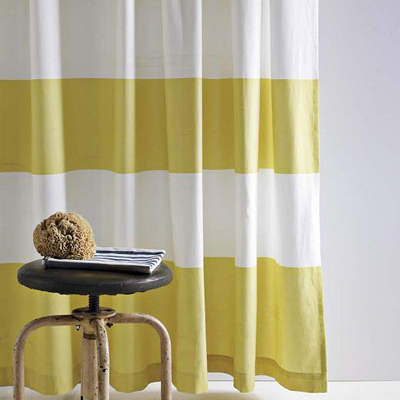 Citron Stripe Shower Curtain