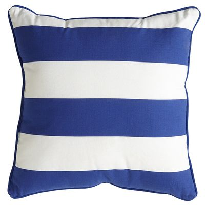 Cobalt Cabana Stripe Pillow