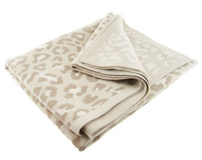 Dennis Basso Printed Knit Throw