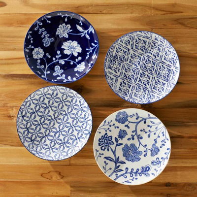 Garden Pattern Plates (set of 4)