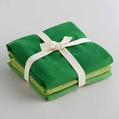 Green Flour Sack Kitchen Towels