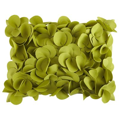 Green Petals Pillow