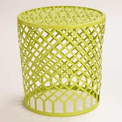 Green Striped Landon Stool