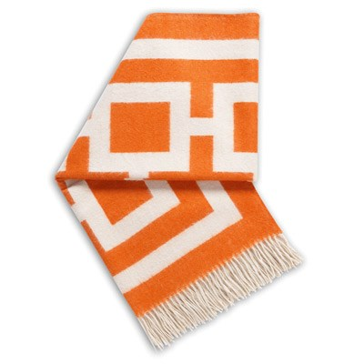 Jonathan Adler Throw Blanket Nixon Orange