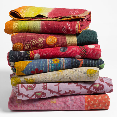 Kantha Hand Crafted Throw