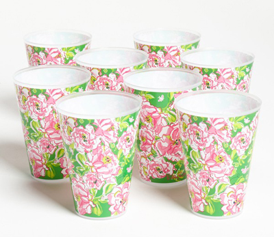 Lilly Pulitzer Floral Print Reusable Party Tumblers