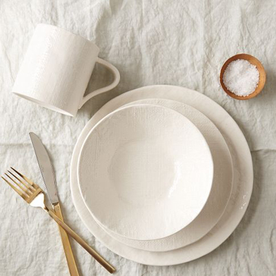 Linen Textured Dinnerware Set
