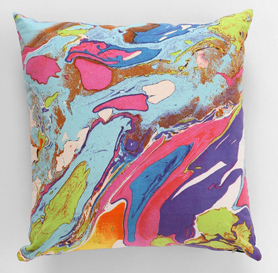 Magical Thinking Marbled Pillow