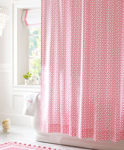 Petal Dot Shower Curtain