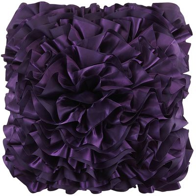 Purple Flounce Pillow