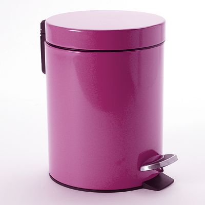 Purple Step Wastebasket