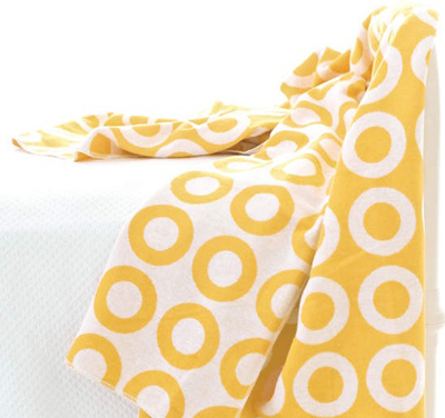 Ring Yellow & White Throw