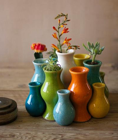 Multi Colored Ceramic Bud Vases Decor By Color