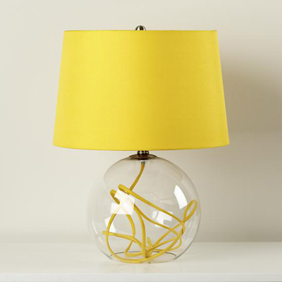Yellow Crystal Ball Table Lamp