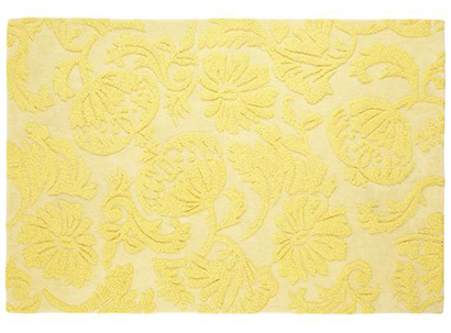 Yellow Raised Floral Rug