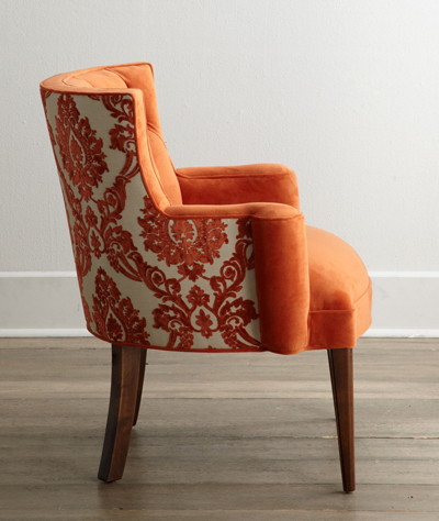 "Bright ""Tiffany Damask"" Chair"
