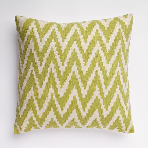 Chevron Crewel Pillow Cover
