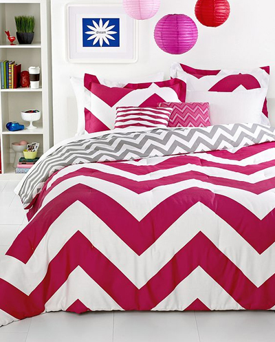 Chevron Pink 5 Piece Comforter Set