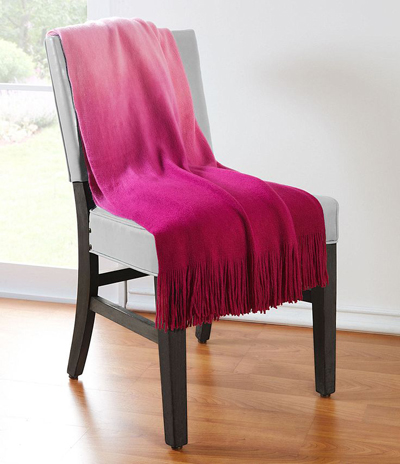 Dip-Dye Fuschia Ombre Throw