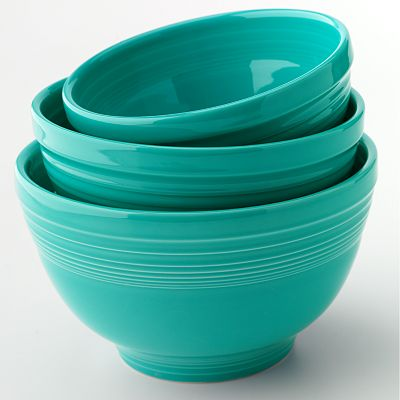 Fiesta 3-pc. Turquoise Baking Bowl Set