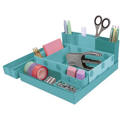 Foldable Paper Desk Organizer