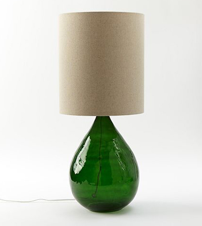 Attractive Glass Jug Table Lamp