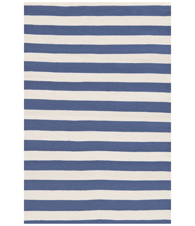 Indoor Outdoor Trimaran Stripe Denim & Ivory Rug