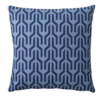 Navy Kuba Pillow Cover