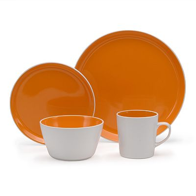 Oneida Colorburst Chili Mango 16-pc. Dinnerware Set  sc 1 st  Decor by Color & Orange Dinnerware | Decor by Color