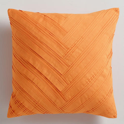 Orange Origami Throw Pillow