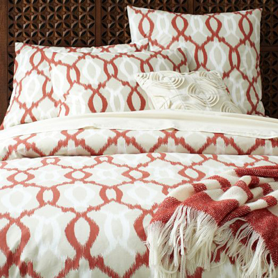 Organic Ikat Links Duvet Cover + Shams