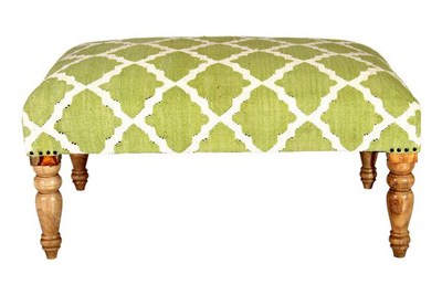 Peregrine Trellis Bench in Green