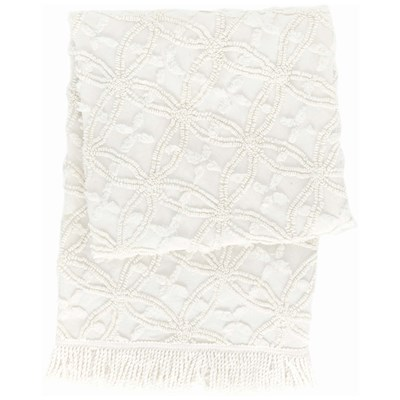 Pine Cone Hill Candlewick Dove White Throw Blanket