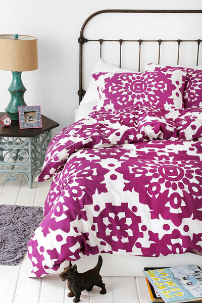 Purple Paper Medallion Duvet Cover