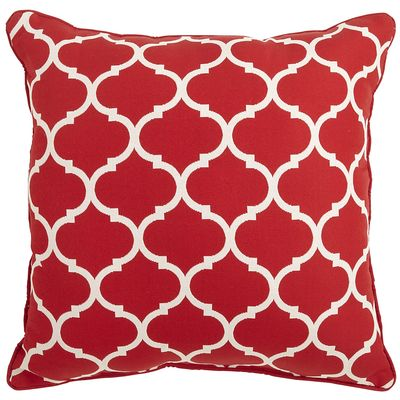 Red Cabana Geometric Pillow